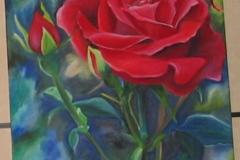 oelmalerei_rose_dunkel_hintergrund