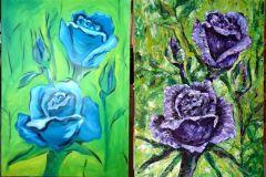 Rose in lila